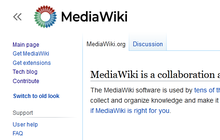 Proposed mediawiki logo (wm solid, capitalised) new vector.png