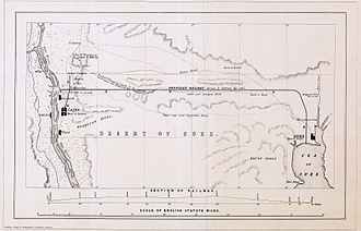 Egyptian National Railways - Proposed railway from Cairo to the Sea of Suez by C.F. Cheffins, 1840s