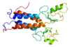 Rendering of a protein