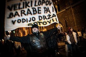 Franc Kangler - Public riot against Franc Kangler