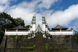 Candi bentar - A candi bentar marks the entrance into a Balinese temple Pura Lempuyang Luhur, Bali.