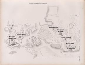 Карта плато Саккара