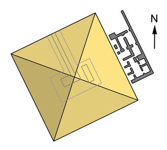 Qakare Ibi - Pyramid complex of Qakare Ibi, Saqqara.