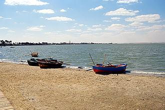 Lake Moeris - Boats at the Lake Qarun, 2003