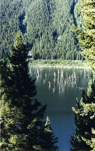 Quake Lake - Quake Lake from overlook