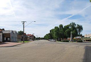 Quambatook Town in Victoria, Australia