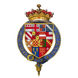 Walter Devereux, 1st Earl of Essex - Quartered arms of Sir Walter Devereux, 1st Earl of Essex, KG