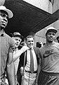 Quinn Buckner, Red Auerbach, Mayor Raymond L. Flynn, Carlos Clark (9516896275).jpg