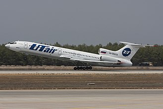 Utair - A former UTair Tupolev Tu-154M taking off at Antalya Airport