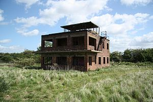 Coleby, North Kesteven - The derelict control tower at RAF Coleby Grange