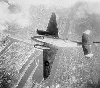 No. 21 Squadron RAF - A 21 Squadron Ventura attacking IJmuiden, in February 1943.