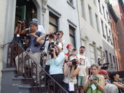 Photographers at a protest.