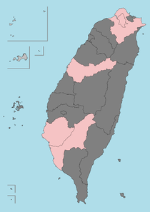 Taiwan Province in dark grey