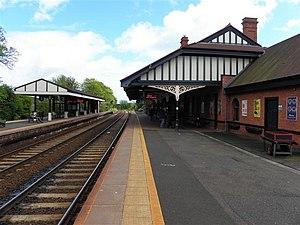 Carrickfergus railway station - Platform 1 at Carrickfergus station in 2011.