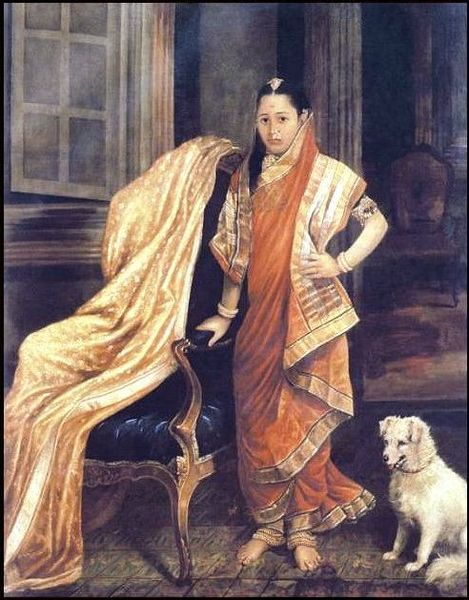 File:Raja Ravi Varma, Princess Tharabai.jpg