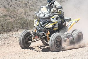 2009 Dakar Rally - The quad class winner J. Macháček (CZE) driving Yamaha.