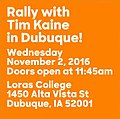 Rally with Tim Kaine in Dubuque (November 2, 2016).jpg