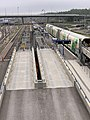 Ramps for cars at the Pasila motorail station in Helsinki, Finland, 2019.jpg