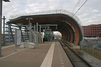 Leidschenveen RandstadRail station - The station's platform
