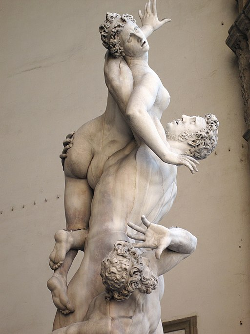 l Ratto delle Sabine, Giambologna, 1583, Loggia dei Lanzi, Piazza della Signoria, Firenze