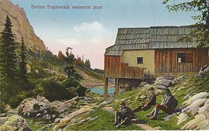 Triglav Lakes Valley - 1922 postcard of the Triglav Lakes Valley