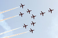 Red Arrows in formation.JPG