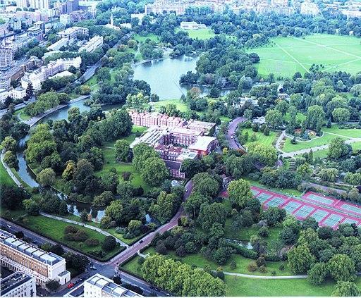 Regent's College Aerial Shot