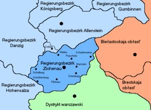 Zichenau (region) - Nazi German Regierungsbezirk Zichenau