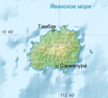 Relief Map of Bawean ru.png