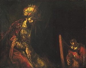 David and King Saul, by Rembrandt.
