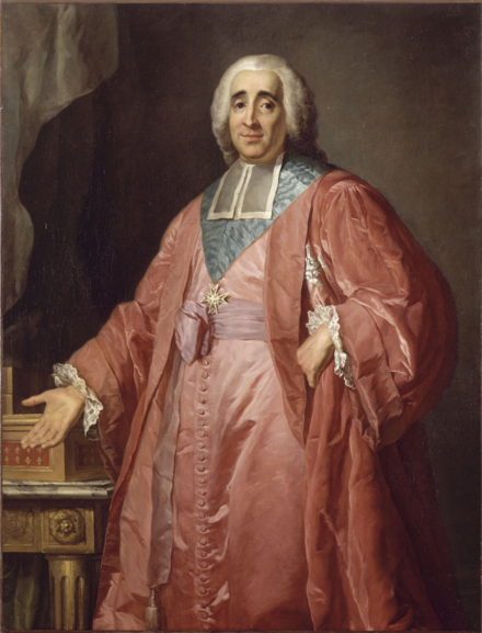 Rene de Maupeou, the Chancellor and last head of government under Louis XV Rene-Augustin de Maupeou.PNG