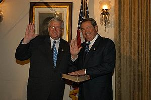 E. Clay Shaw Jr. - Shaw being sworn in by Speaker Dennis Hastert for the 108th Congress