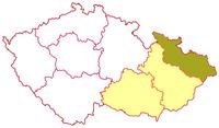 Poloha ostravsko-opavské diecéze v rámci moravské církevní provincie