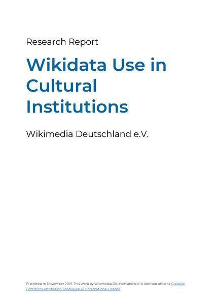 File:Research Report – Use of Wikidata in GLAM institutions (2019-11).pdf