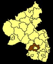 Кайзерслаутерн на карте