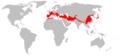 Rhinolophus ferrumequinum range Map.png