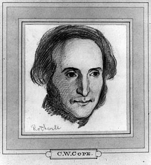 Richard Rothwell - Pen and ink drawing by Charles West Cope of Richard Rothwell circa 1862.