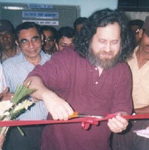 Richard Stallman - Richard Stallman in 2003 at the opening ceremony of NIXAL (a GLUG) at Netaji Subhash Engineering College, Calcutta, India