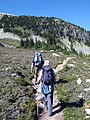 Richard and Ruth on the trail below Piccolo summit (1402113941).jpg