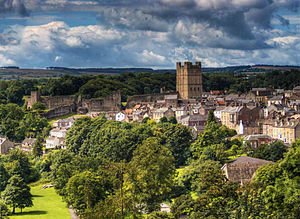 Richmond, North Yorkshire - Image: Richmond castle viewed from Maison Dieu