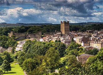 Richmond, North Yorkshire - Image: Richmond castle viewed from Maison Dieu