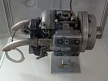 The Norbert Riedel Designed Apu Style Two Stroke Starter Motor For A Jumo 004 Turbojet Engine