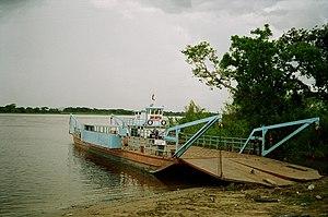 Meta River - Ferry over the Rio Meta on the road from Puerto Ayacucho to San Fernando de Apure in Venezuela