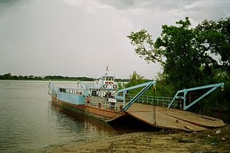 Meta River - Ferry over the Rio Meta on the road from Puerto Ayacucho to San Fernando de Apure in Venezuela