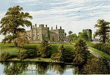 Ripley Castle', 1816 by Francis Orpen Morris