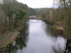 River Ayr, Old Barskimming Bridge, Mauchline, Ayrshire.JPG