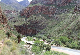 Meiringspoort gorge through the Swartberg mountain range in South Africa