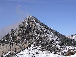 Paisagem da montanha Roc de Galliner na região de Urgellet.