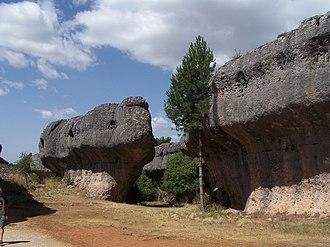 Ciudad Encantada - Image: Rock walls in Ciudad Encantada