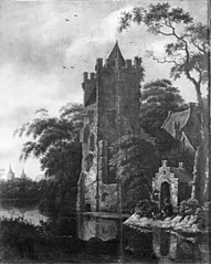 Ruins of a Castle by a River